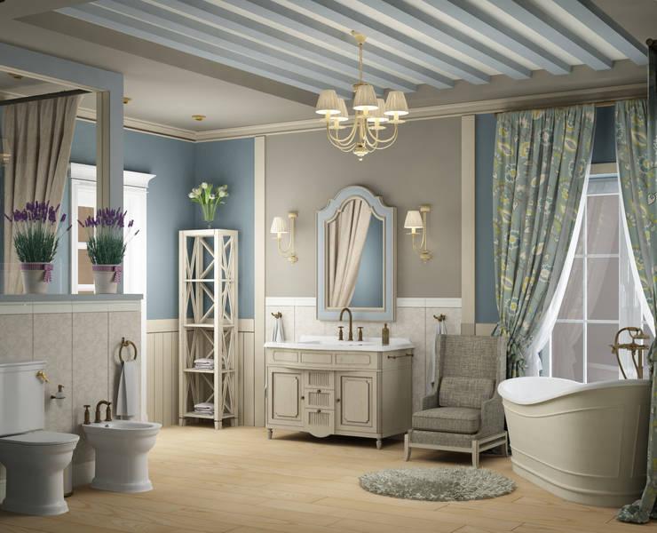 landelijke Badkamer door Eclectic DesignStudio