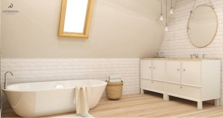 łazienka rustykalna / vintage: styl , w kategorii Łazienka zaprojektowany przez Artenova Design