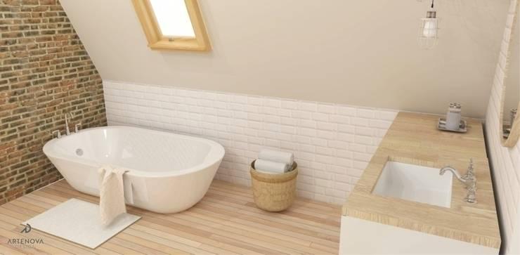 Rustykalna vintage łazienka : styl , w kategorii Łazienka zaprojektowany przez Artenova Design