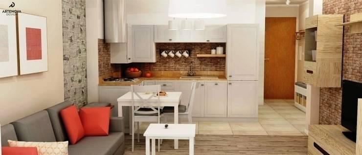 kuchnia vintage : styl , w kategorii Kuchnia zaprojektowany przez Artenova Design