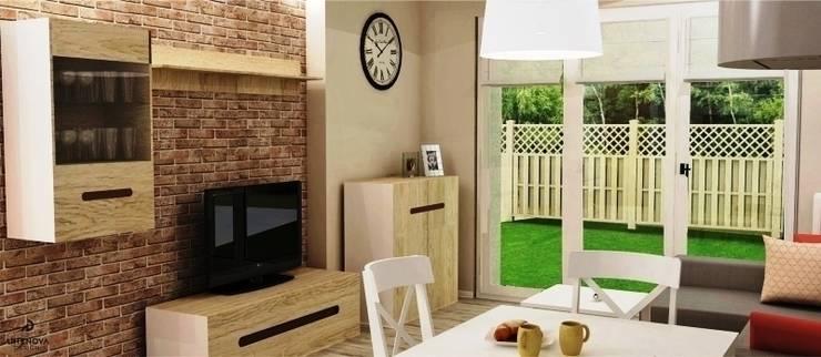 Mieszkanie styl vintage cottage rustykalny : styl , w kategorii Jadalnia zaprojektowany przez Artenova Design