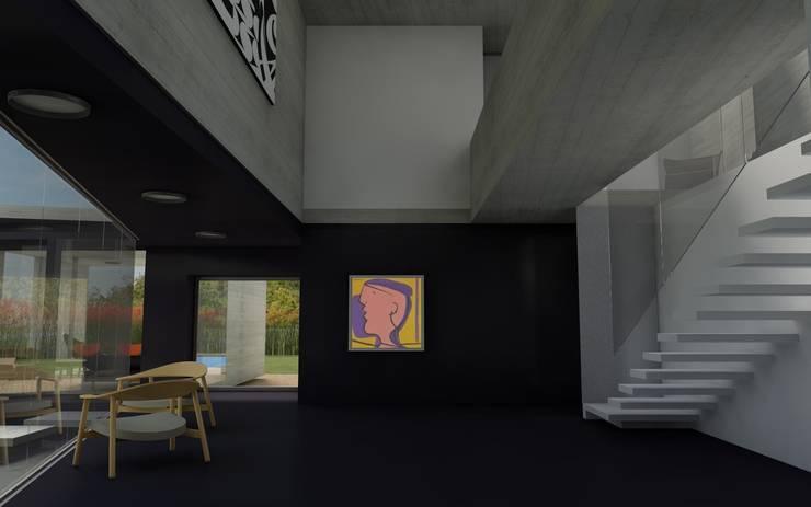 CASA TTTBN: Pasillos y recibidores de estilo  por Najmias Oficina de Arquitectura [NOA]