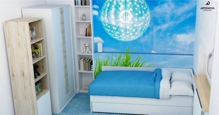 pokój dziecka niebieska łąka: styl , w kategorii Pokój dziecięcy zaprojektowany przez Artenova Design