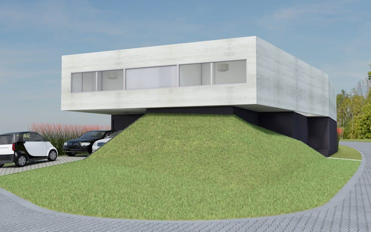 CASA TTTBN: Casas de estilo minimalista por Najmias Oficina de Arquitectura [NOA]