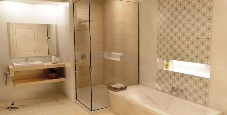 łazienka : styl , w kategorii Łazienka zaprojektowany przez Artenova Design