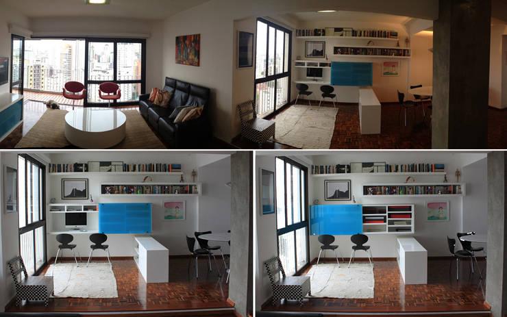 DPTO GRNT: Estudio de estilo  por Najmias Oficina de Arquitectura [NOA]