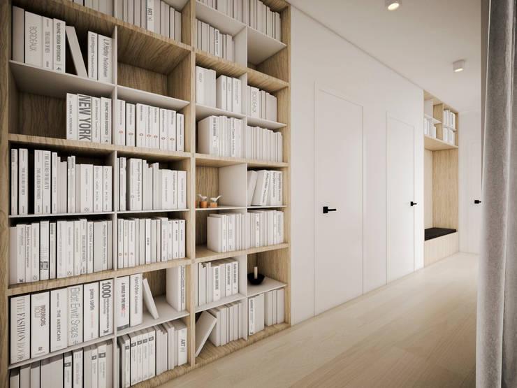 Dom podmiejski – wnętrza: styl , w kategorii Korytarz, przedpokój zaprojektowany przez zwA Architekci,Skandynawski