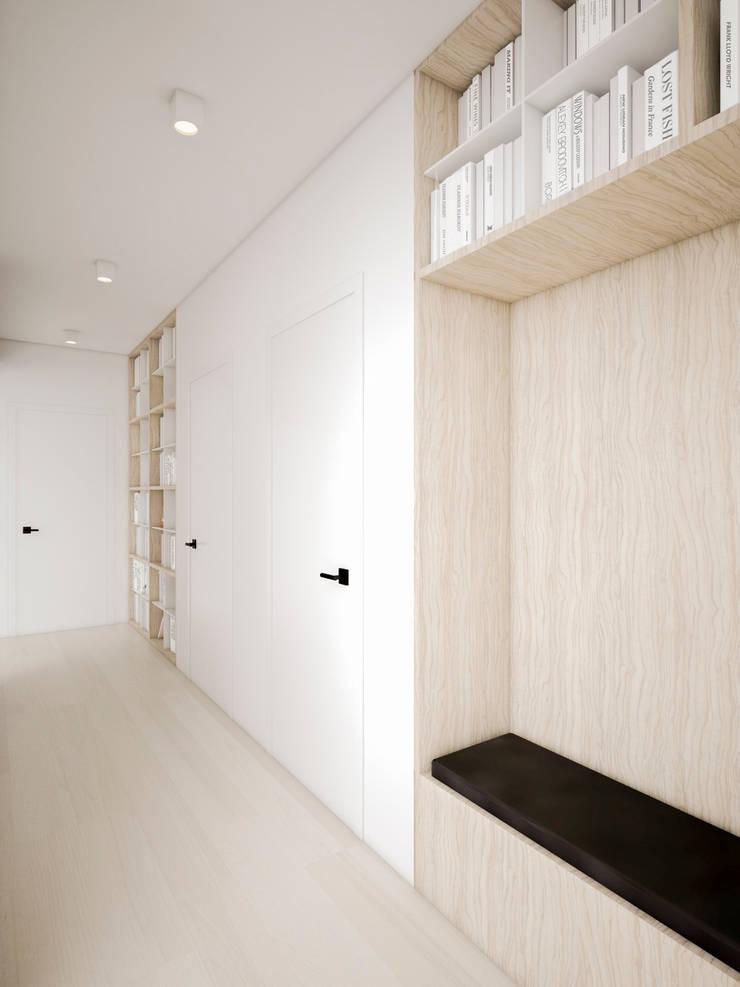 Dom podmiejski – wnętrza: styl , w kategorii Korytarz, przedpokój zaprojektowany przez zwA Architekci,Nowoczesny