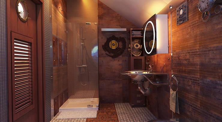 Ванная Батискаф : Ванные комнаты в . Автор – Architoria 3D