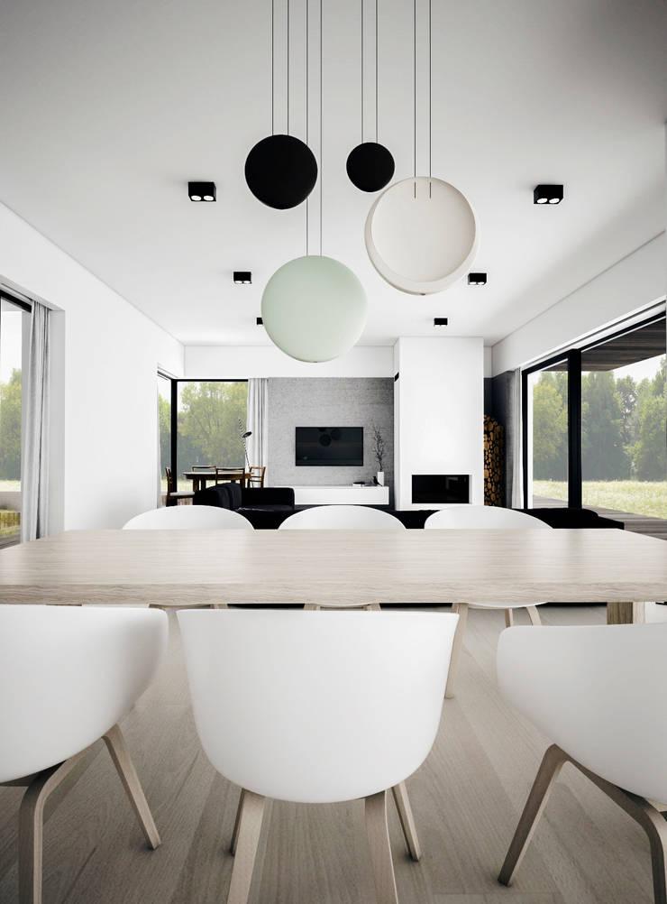Dom podmiejski - wnętrza: styl , w kategorii Salon zaprojektowany przez zwA Architekci,Skandynawski