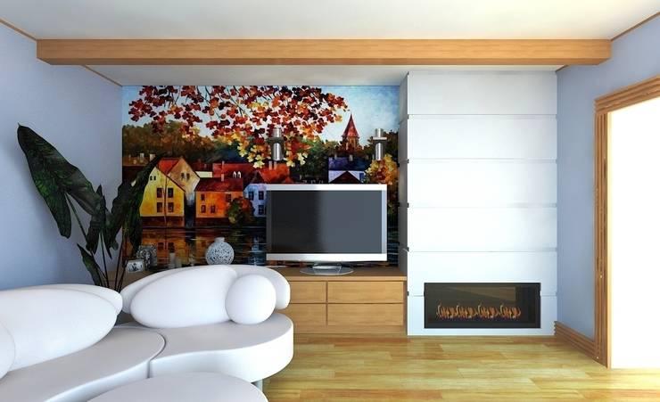 Гостиная для семьи из двух человек: Гостиная в . Автор – Андреева Валентина