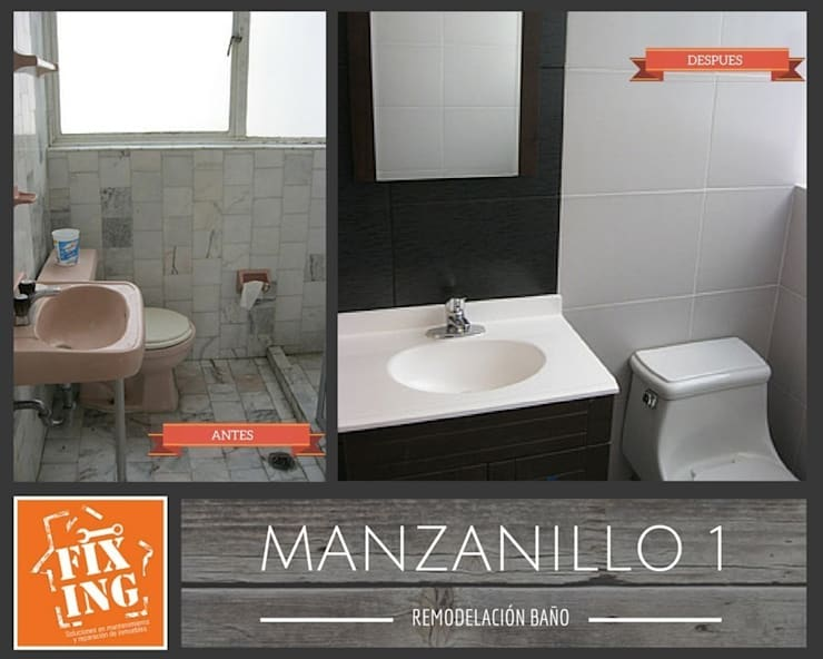 Baño:  de estilo  por Fixing