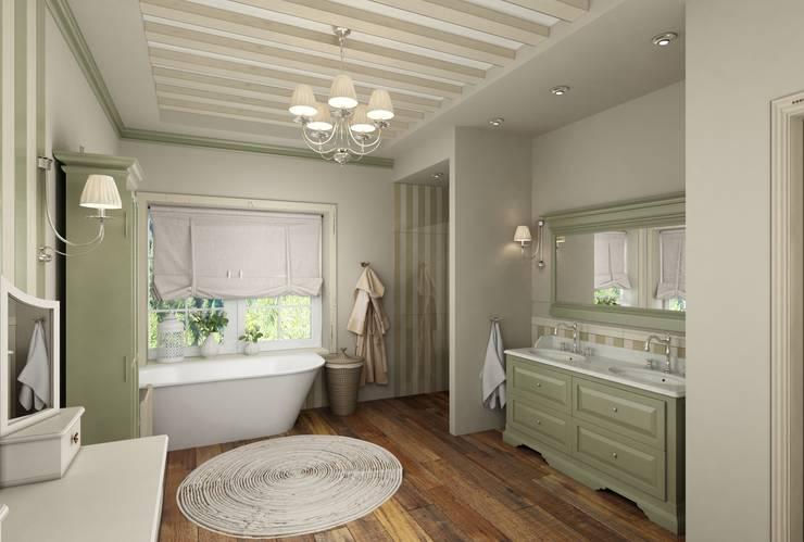 Eclectic DesignStudio: kırsal tarz tarz Banyo
