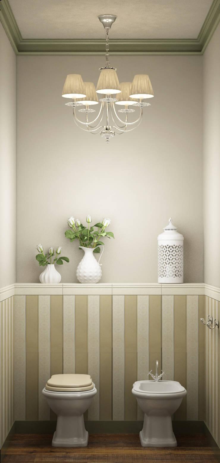 ванная комната в частном доме: Ванные комнаты в . Автор – Eclectic DesignStudio, Кантри