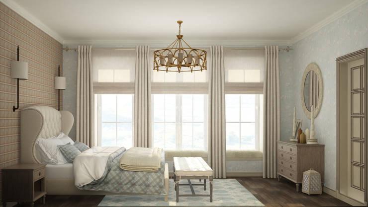гостевая спальня в частном доме: Спальни в . Автор – Eclectic DesignStudio, Кантри