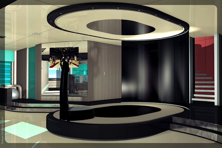 Superyacht (85m) Stretching/Yoga/Entertainment Stage:  Gym by Mark Healy Fitness Management
