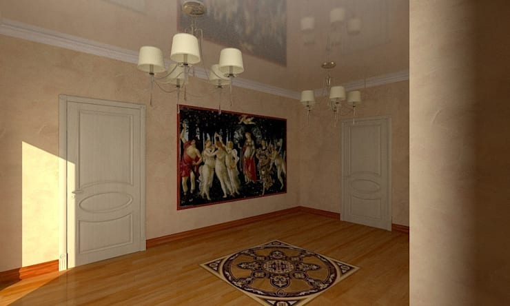 Интерьер индивидуального жилого дома для троих человек.: Коридор и прихожая в . Автор – Андреева Валентина