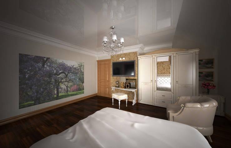 Интерьер индивидуального жилого дома для троих человек.: Спальни в . Автор – Андреева Валентина