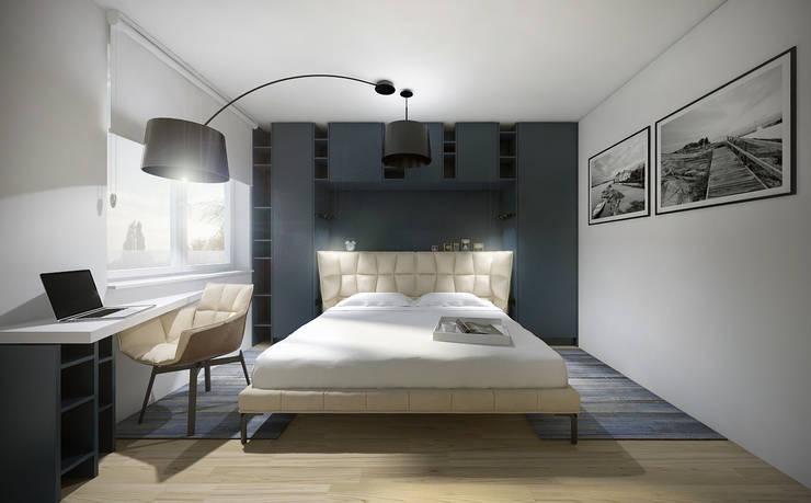 Sypialnia: styl , w kategorii Sypialnia zaprojektowany przez HUK atelier