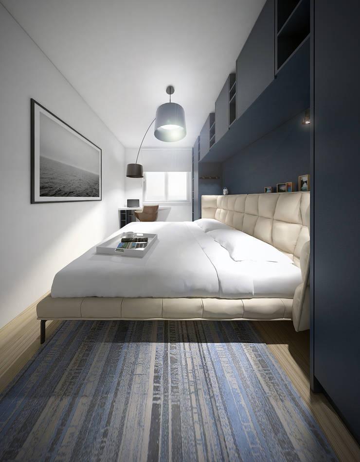 Sypialnia: styl , w kategorii Sypialnia zaprojektowany przez HUK atelier,