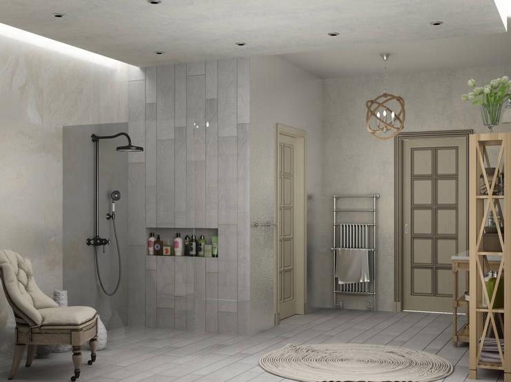 ванная комната в частном доме: Ванные комнаты в . Автор – Eclectic DesignStudio
