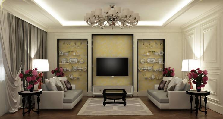 гостиная/столовая: Гостиная в . Автор – Eclectic DesignStudio