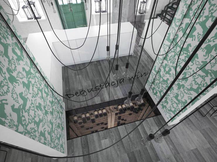 Restauracja 140 m2 – mieszanka przeszłości i teraźniejszości.: styl , w kategorii Gastronomia zaprojektowany przez HUK atelier