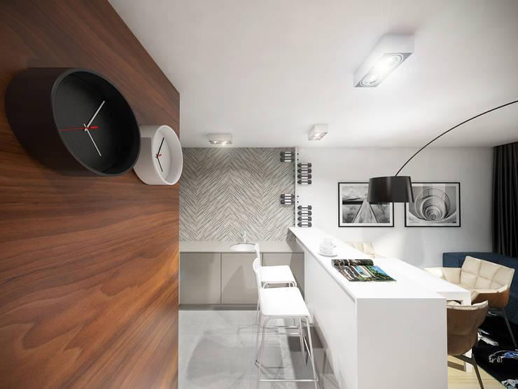 Aneks kuchenny: styl , w kategorii Kuchnia zaprojektowany przez HUK atelier,