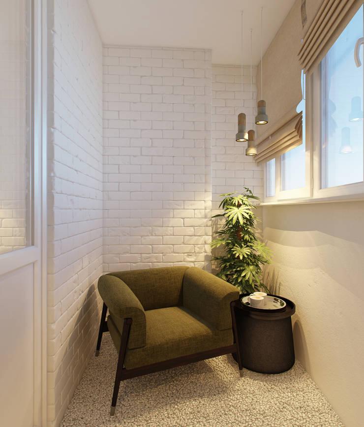 спальня: Tерраса в . Автор – Eclectic DesignStudio