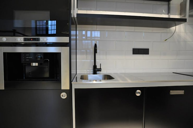 Loft Łódź: styl , w kategorii Kuchnia zaprojektowany przez OMII. Agata Słoma