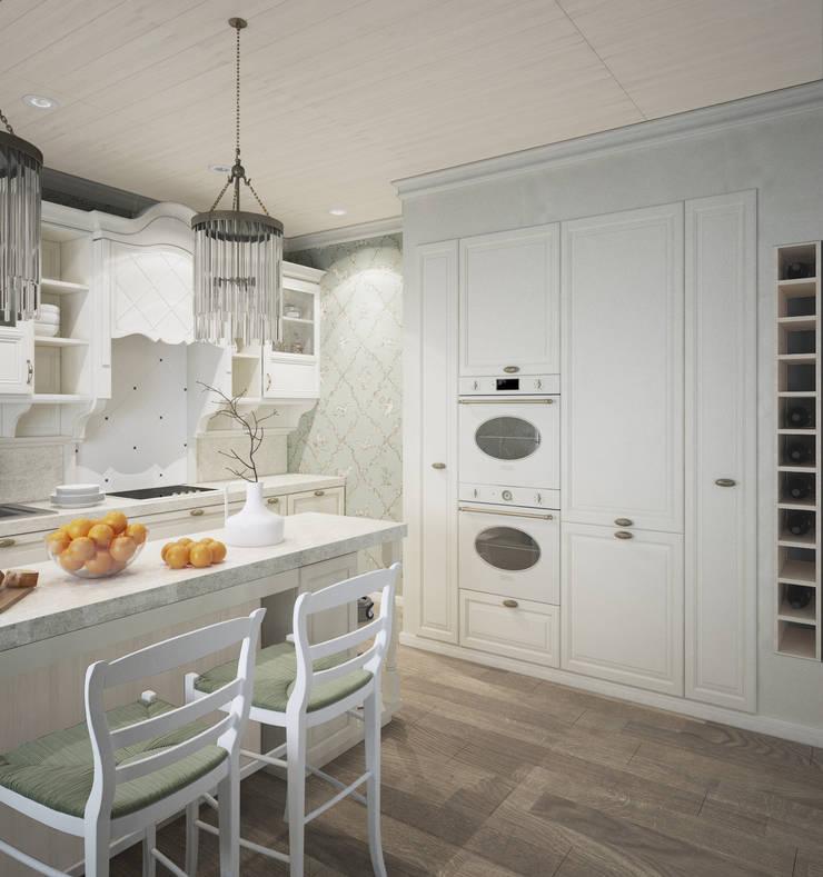 Кухня/столовая в частном доме: Кухни в . Автор – Eclectic DesignStudio