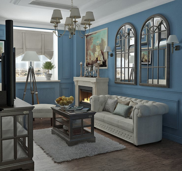classic Living room by Yurov Interiors