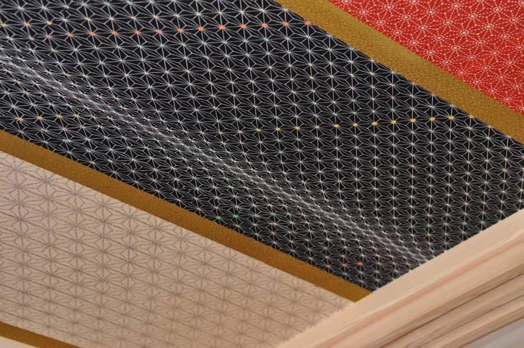 着物・羽織の紋様が 躍動(着物型紙師の仕掛け): 樹・中村昌平建築事務所が手掛けたアートです。