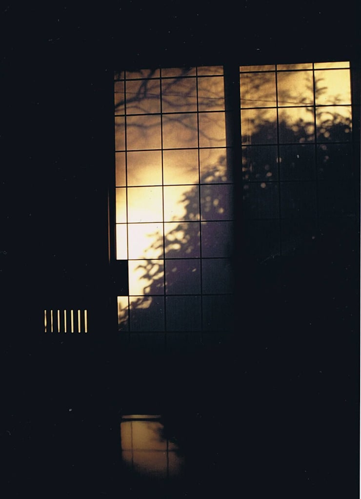 影絵1。朝陽障子に天然色・自宅: 樹・中村昌平建築事務所が手掛けたアートです。