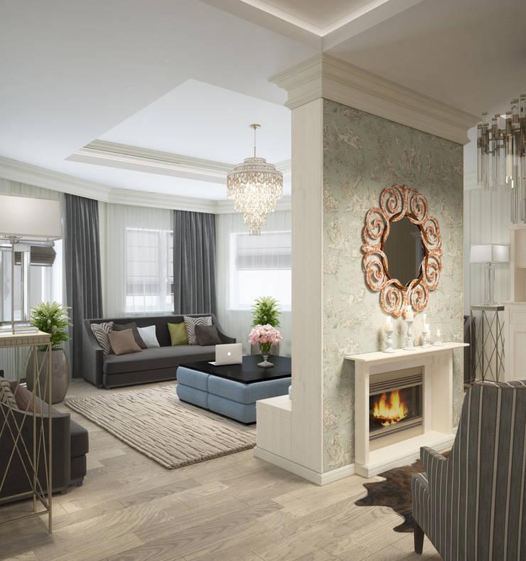 гостиная : Гостиная в . Автор – Eclectic DesignStudio