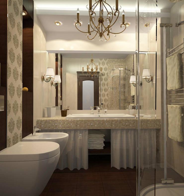 коттедж пос.Кисловка,томск 2014: Ванные комнаты в . Автор – IDstudio