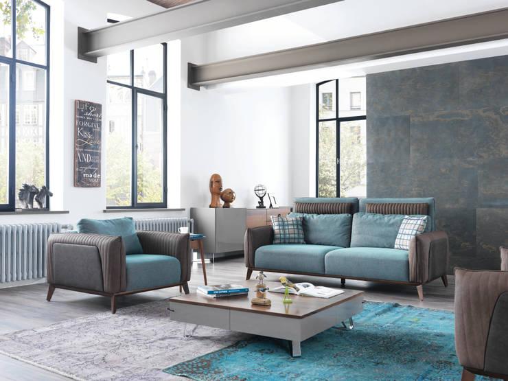 NILL'S FURNITURE DESIGN – Benz Oturma Grubu: modern tarz Oturma Odası