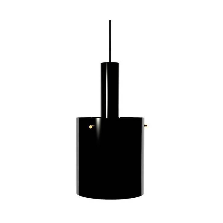 Светильник потолочный фабрики Rubn Lighting. Черный матовый с латунными деталями.: Прихожая, коридор и лестницы в . Автор – NICE CATCH