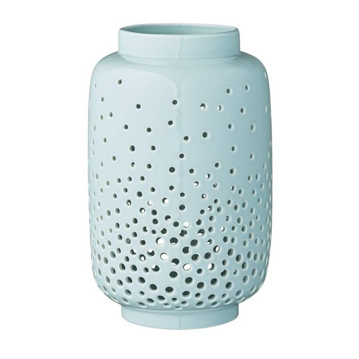 Ceramiczna latarnia w kolorze mięty: styl , w kategorii  zaprojektowany przez Chwila Inspiracji,Skandynawski