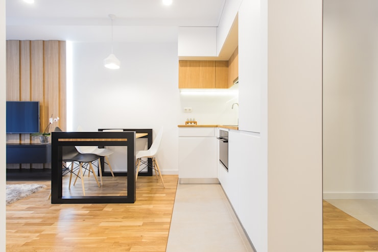 NADWIŚLAŃSKA 11 – 36m2: styl , w kategorii Kuchnia zaprojektowany przez UNQO