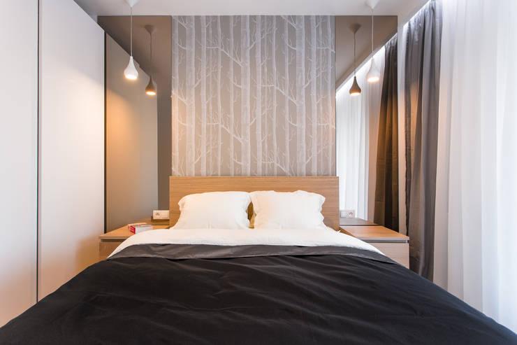 NADWIŚLAŃSKA 11 – 36m2: styl , w kategorii Sypialnia zaprojektowany przez UNQO