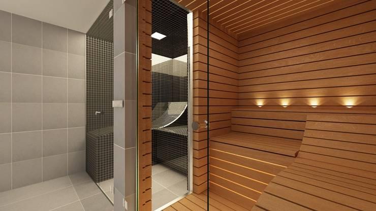 Bespoke Glass steam and sauna  - Effegibi Equipment : modern Bathroom by Steam and Sauna Innovation