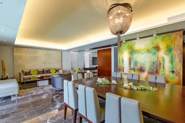 Dining room by Enrique Cabrera Arquitecto, Modern