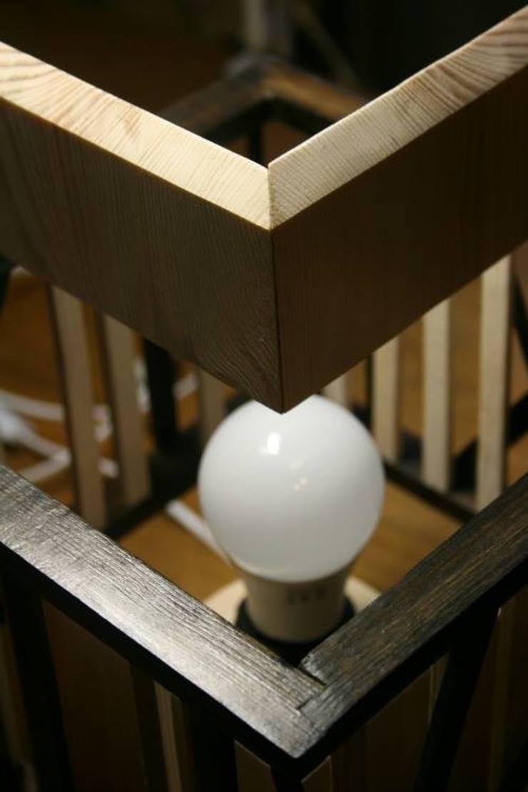 """Lampa """"Touch of Black"""": styl , w kategorii Salon zaprojektowany przez hello Re,"""