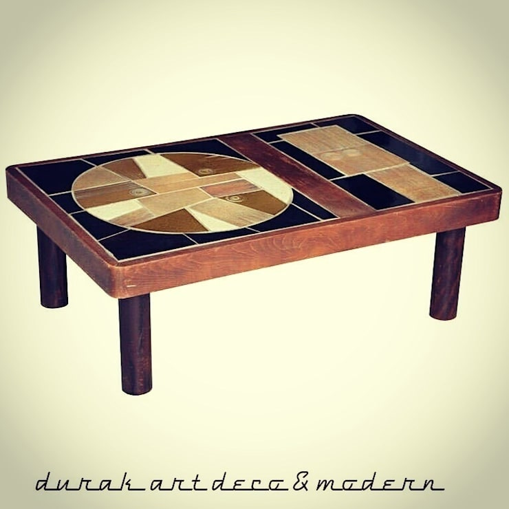 durak art deco & modern – 70's Ceramic Coffee Table  Designed by Roger Capron : modern tarz Oturma Odası