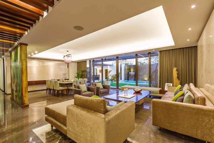 Salas / recibidores de estilo  por Enrique Cabrera Arquitecto