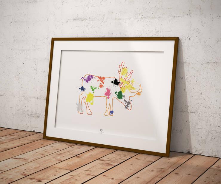 Nietuzinkowe dekoracje do pokoju dziecięcego: styl , w kategorii  zaprojektowany przez Nudy Nie Ma design,Minimalistyczny
