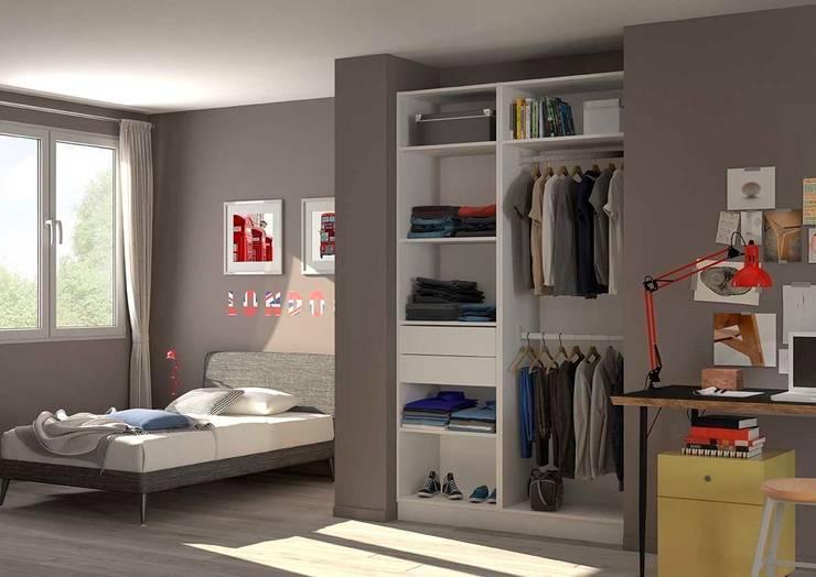 Placard dressing chambre d 39 adolescent par homify - Amenagement placard chambre ...