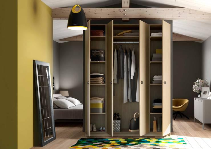 Vestidores y closets de estilo escandinavo por Centimetre.com