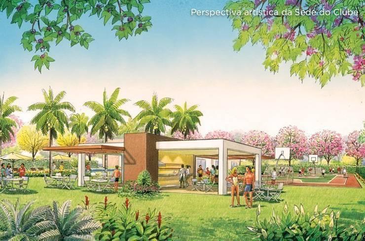 Lazer projetado para a URBPLAN Condominios: Jardins tropicais por Roncato Paisagismo e Comércio de Plantas Ltda
